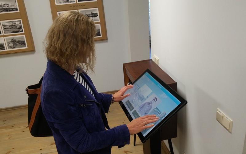 Alaf 22 interaktivais displejs rojas muzeja